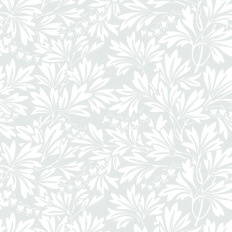 Papier peint - Cole and Son - Dialytra - Pale Grey & White