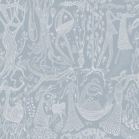 Papier peint po me d amour belle harmonie grise et blanche - Is wallpaper in style ...