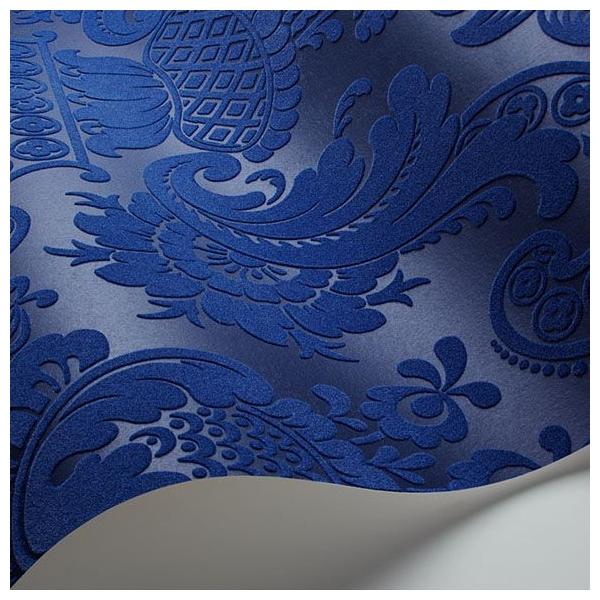 papier peint petrouchka un duo de bleu fonc. Black Bedroom Furniture Sets. Home Design Ideas