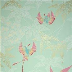 Papier peint - Osborne & Little - Grove Garden - Bleu et vert