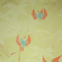 Papier peint - Osborne & Little - Grove Garden - Orange, vert, or