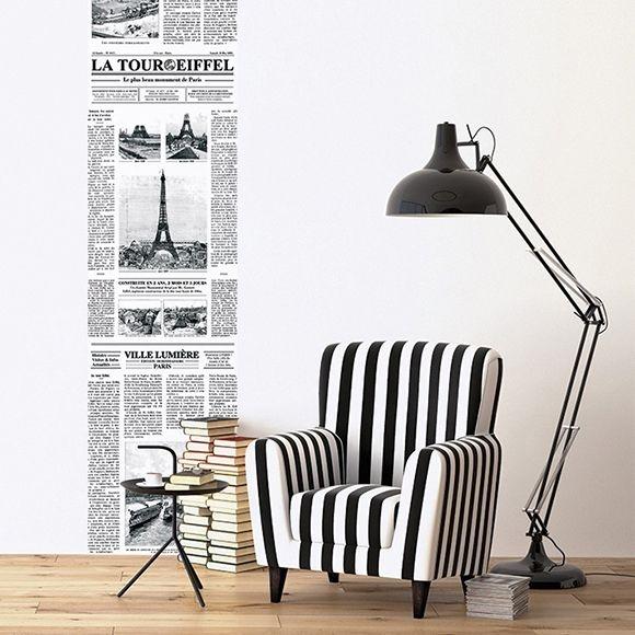 papier peint journal tour eiffel la petite histoire. Black Bedroom Furniture Sets. Home Design Ideas