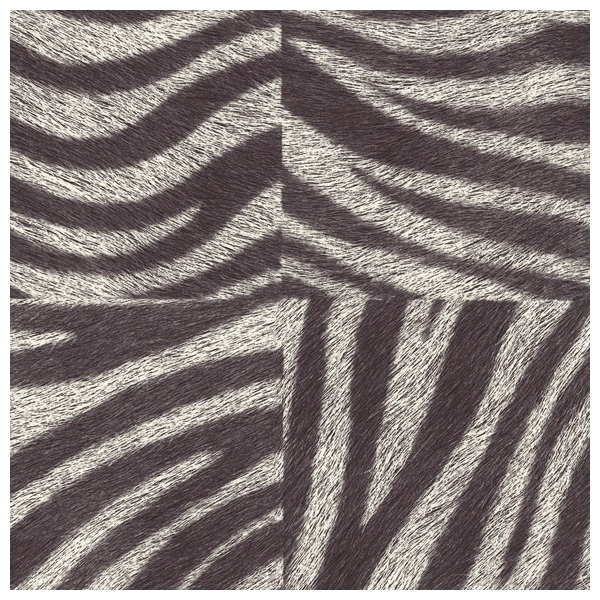 Papier peint ethnique kilim noir et blanc elitis - Papier peint zebre noir et blanc ...
