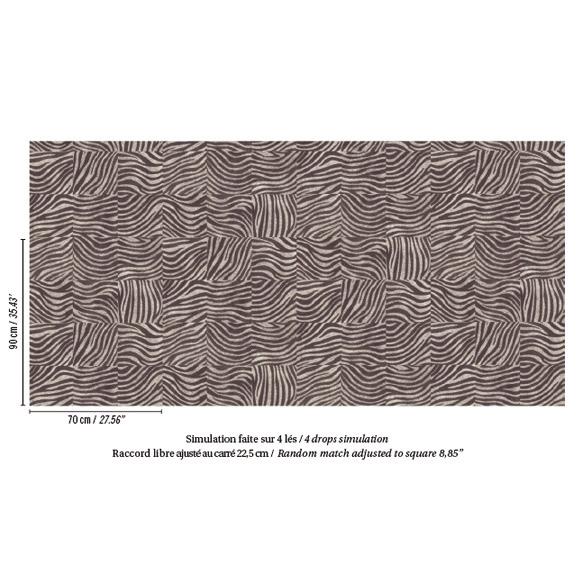 papier peint ethnique kilim noir et blanc elitis. Black Bedroom Furniture Sets. Home Design Ideas