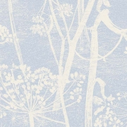 Papier peint - Cole and Son - Cow Parsley - Pale Blue & White