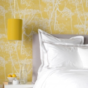 Papier peint - Cole and Son - Cow Parsley - Yellow & White