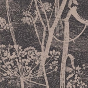 Papier peint - Cole and Son - Cow Parsley - Charcoal & Taupe
