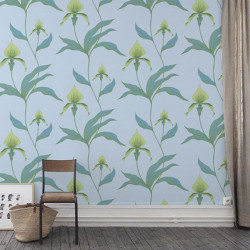 Papier peint - Cole and Son - Orchid  - Blue & Green