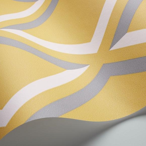 Papier peint petits motifs jaune pompeian cole and son au fil des couleurs - Au fil des couleurs papier peint ...