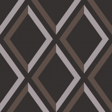 Papier peint - Cole and Son - Pompeian  - Black Taupe & White