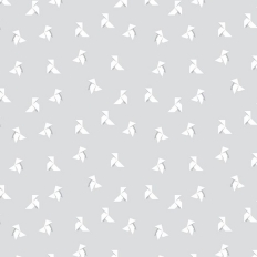 Papier peint - Maison Leconte - Cocottes - Gris perle