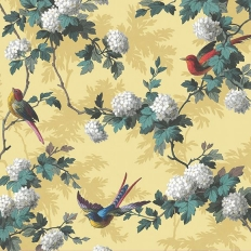 Papier peint - The Vintage Collection - Bird Print - Yellow