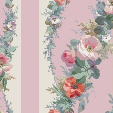 Papier peint - The Vintage Collection - Classic Rose Stripe - Pink