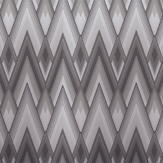 Papier peint - Osborne & Little - Astoria - Graphite/Silver