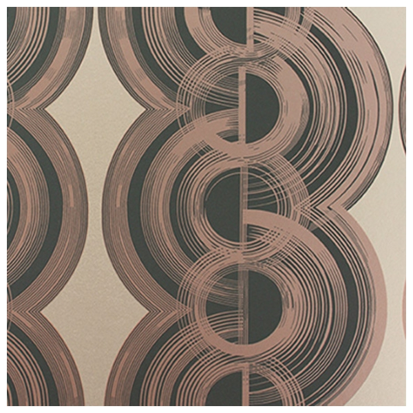 papier peint lempicka bandes de cercles aux contours stri s. Black Bedroom Furniture Sets. Home Design Ideas