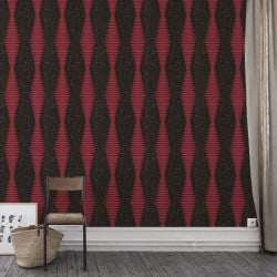 Papier peint - Cole and Son - Fusion  - Red & Black
