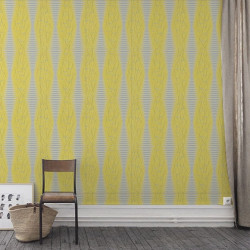 Papier peint - Cole and Son - Fusion - Jaune / Gris