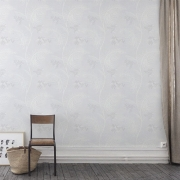 Papier peint - Cole and Son - Mimosa - Grey White & Pale Grey