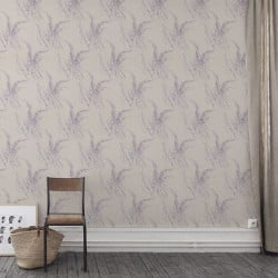 Papier peint - Cole and Son - Wild Flowers  - Taupe Blue & Pink
