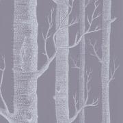 Papier peint - Cole and Son - Woods  - Lavender Grey & White