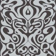 Papier peint - Cole and Son - Woodstock - Silver foil & Black