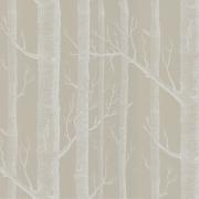 Papier peint - Cole and Son - Woods  - Stone & White
