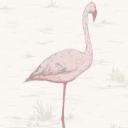 Papier peint - Cole and Son - Flamingos - Pink & White