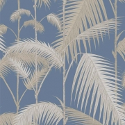 Papier peint - Cole and Son - Palm Jungle - Straw & Blue