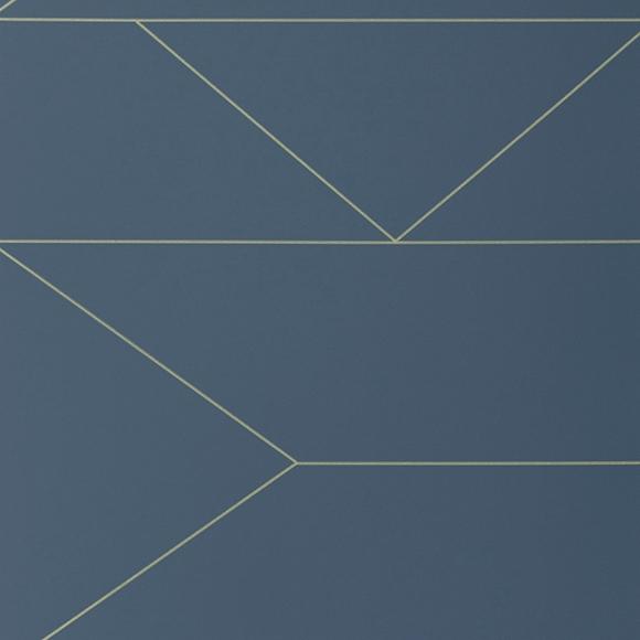 papier peint lines lines dor es et fond bleu fonc. Black Bedroom Furniture Sets. Home Design Ideas