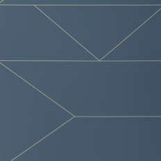 Papier peint - Ferm Living - Lines - Dark Blue