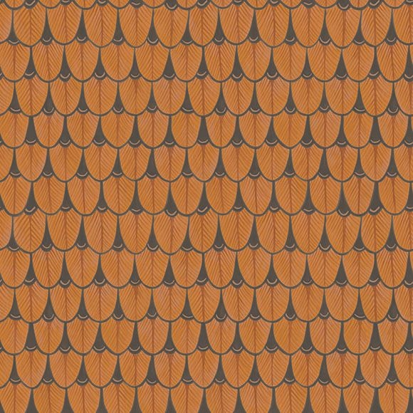Apex Geo Wallpaper Rose Gold: Motifs De Plumes Marron