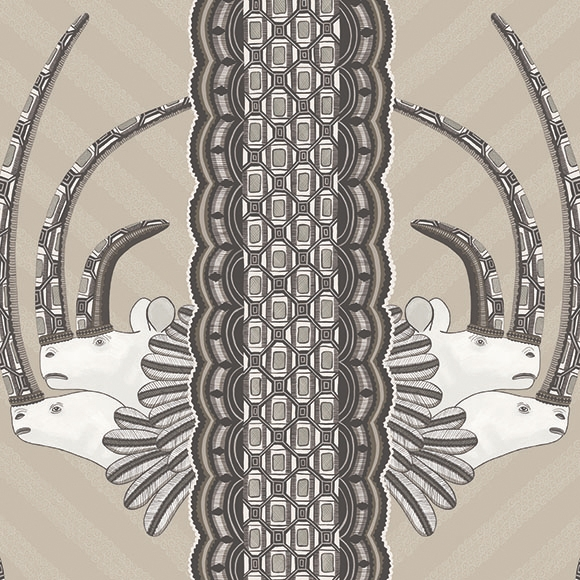 papier peint jabu rhinoc ros et motifs africains cama eu. Black Bedroom Furniture Sets. Home Design Ideas