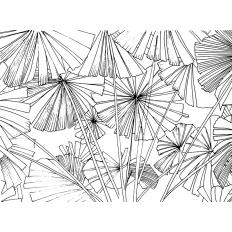 Décor mural - Au fil des Couleurs - Sagamore - Black & White