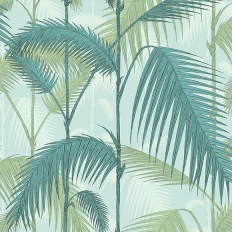 Papier peint - Cole and Son - Palm Jungle - bleu écume