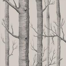 Papier peint - Cole and Son - Woods - lin et charbon