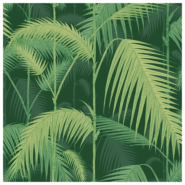 papier peint palm jungle vert for t collection icons de. Black Bedroom Furniture Sets. Home Design Ideas