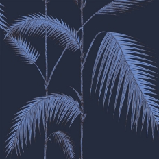 Papier peint - Cole and Son - Palm Leaves - encre et violet