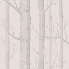 Papier peint - Cole and Son - Woods - blanc parchemin