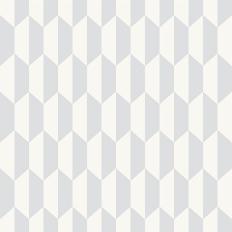 Papier peint - Cole and Son - Petite Tile - gris clair