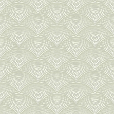 Papier peint - Cole and Son - Feather Fan - vert olive