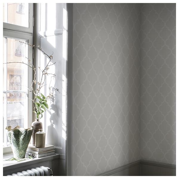 papier peint gaston gris clair collection oas de sandberg. Black Bedroom Furniture Sets. Home Design Ideas