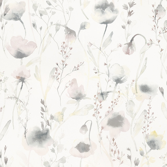 Papier peint fleuri lo multicolore pastel collection oas for Papier peint scandinave castorama