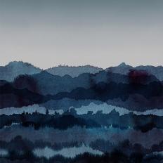 Décor mural - Sandberg - Midnatt - bleu