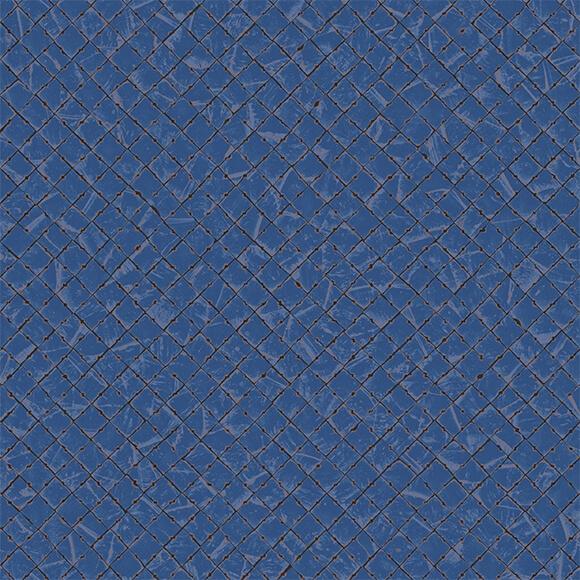 papier peint mayana bleu marine brun et cuivre collection samarcande d elitis. Black Bedroom Furniture Sets. Home Design Ideas