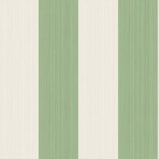 Papier peint - Cole and Son - Jaspe Stripe - Vert et crème
