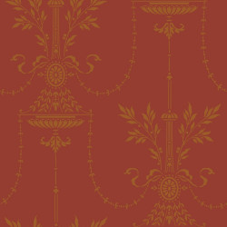 Papier peint - Cole and Son - Dorset - Red & Gold