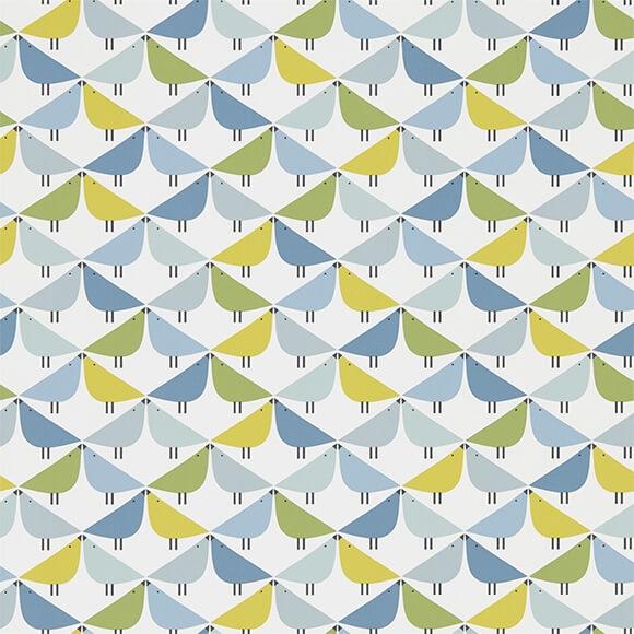 papier peint lintu en bleu vert et jaune collection. Black Bedroom Furniture Sets. Home Design Ideas