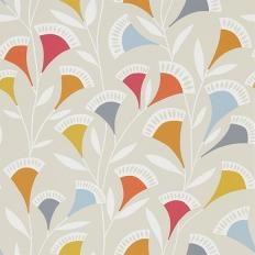 Papier peint - Scion - Noukku - Pastèque, mandarine et ardoise