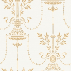 Papier peint - Cole and Son - Dorset - Off White & Gold