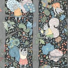 Papier peint - Boråstapeter - Charlie - Multicolore et noir